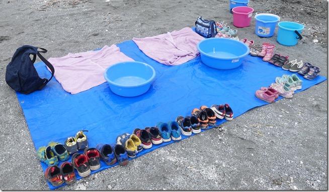 京王幼稚園 有珠磯遊び 靴
