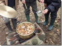 伊藤さんの里山 昼食 鍋