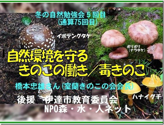 冬の自然勉強会5回目題字 - コピー